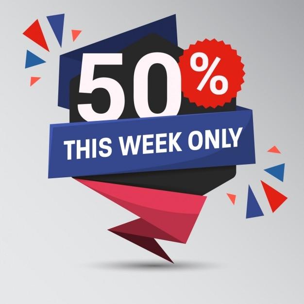 Big sale week background Free Vector