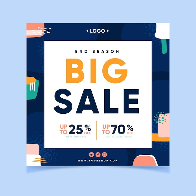 Big sale with discounts Free Vector