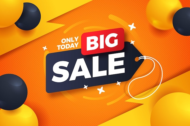 Big sales background with realistic balloons Free Vector