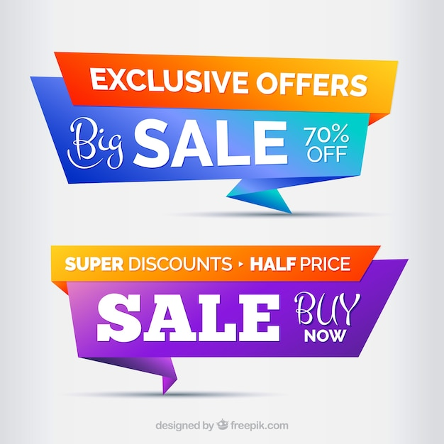 Big sales banner design Free Vector