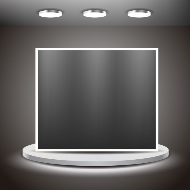Big screen in a room Free Vector