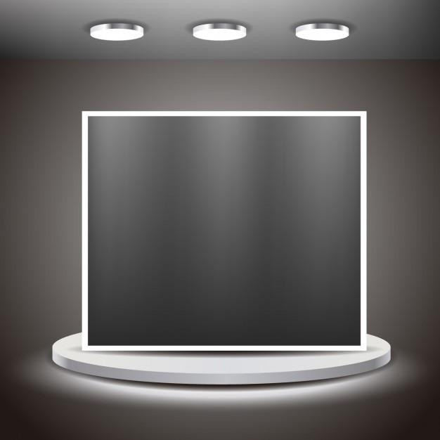Big screen in a room Free Vector