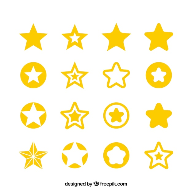 Big star set Free Vector