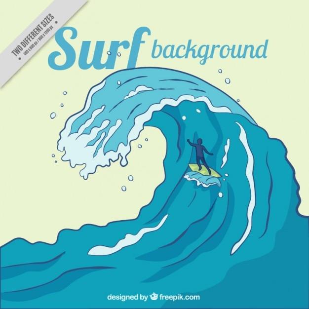 Big wave surf background