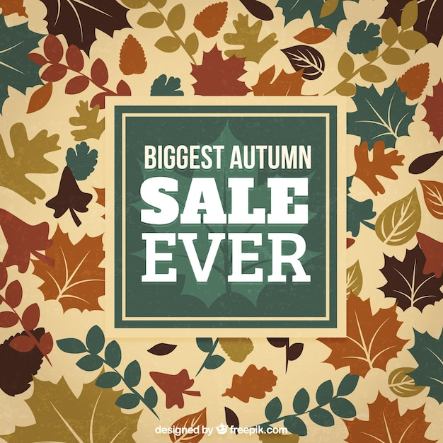 Biggest autumn sale ever background Free Vector