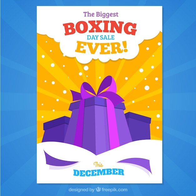 The biggest boxing day sale ever, poster Free Vector