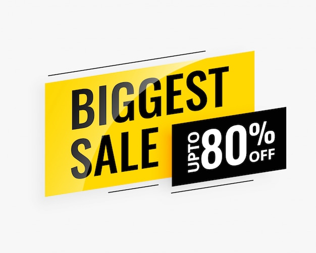 Biggest sale promotional banner Free Vector