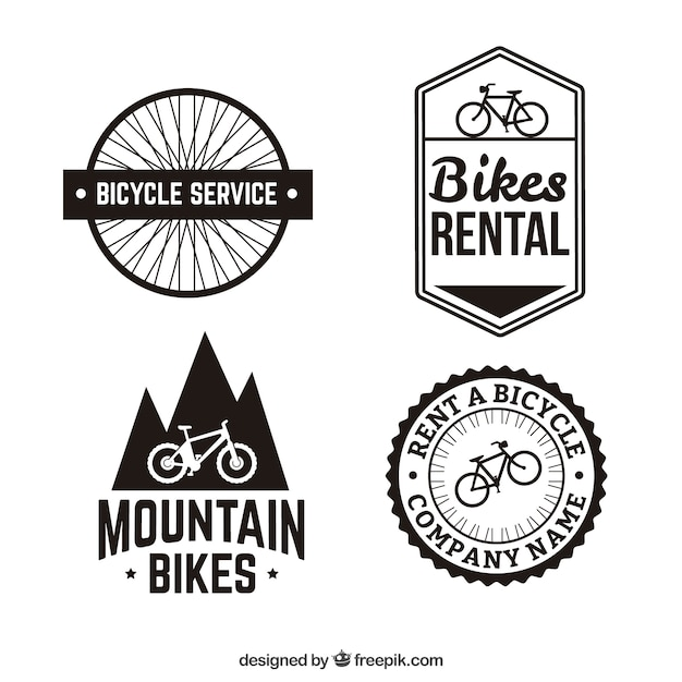 Bike badges Premium Vector