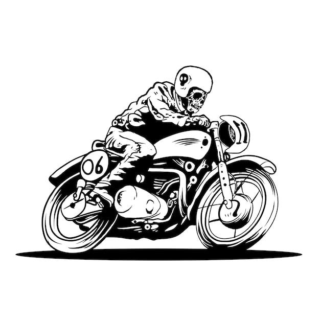 Bike a devil motorcycle Premium Vector