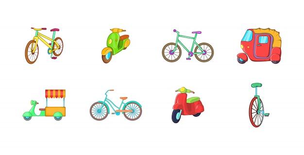 Bike element set. cartoon set of bike vector elements Premium Vector