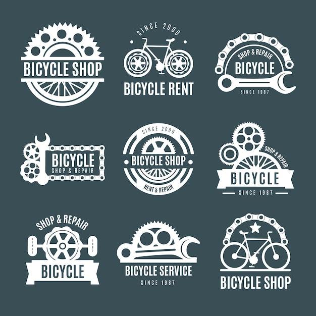 Коллекция логотипов велосипедов Бесплатные векторы