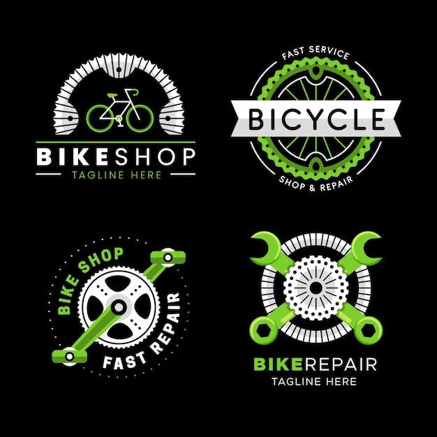 자전거 로고 팩 무료 벡터