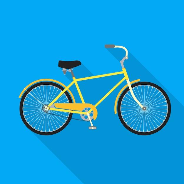 Велосипед на синем фоне. велосипед Premium векторы