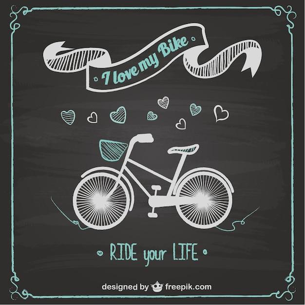 bike ride chalkboard design vector free download