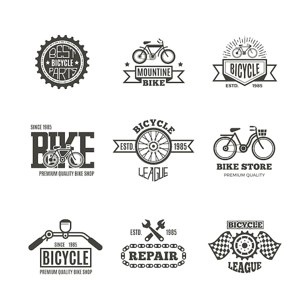 Bike shop Premium Vector