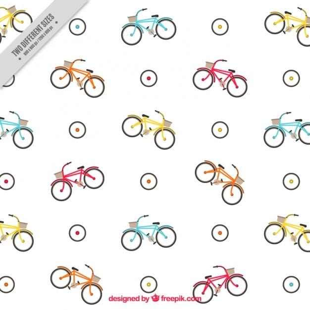 Bikes seamless pattern Free Vector