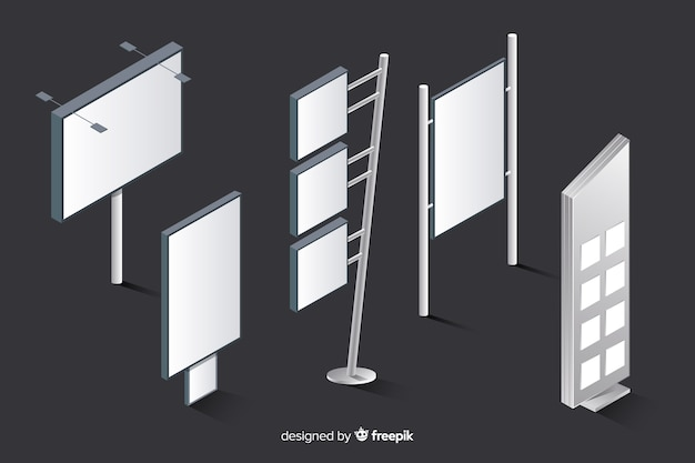 Billboard collection Free Vector