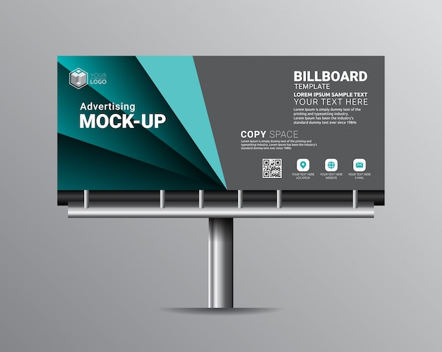 Billboard template designs for outdoor advertising. Premium Vector