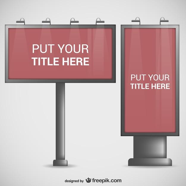 Billboard templates pack Vector | Free Download