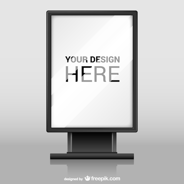 Billboard with glass texture vector Free Vector