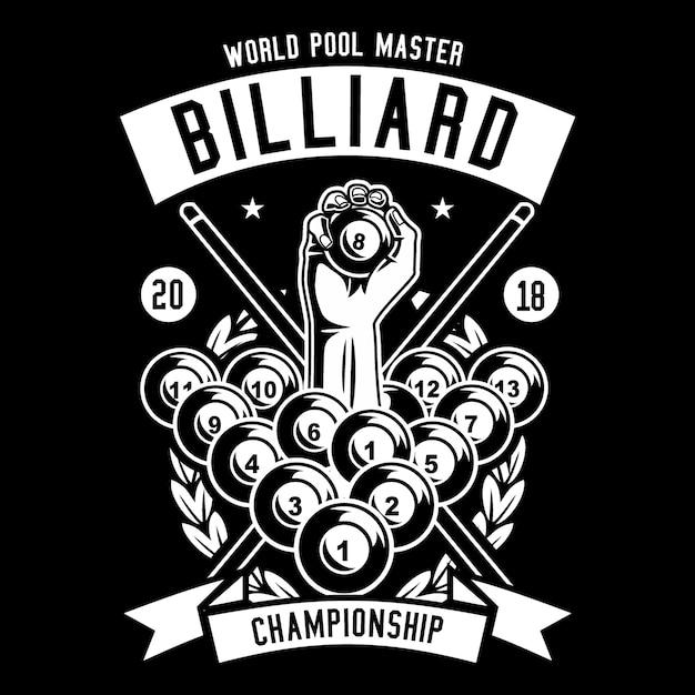Billiard championship Premium Vector