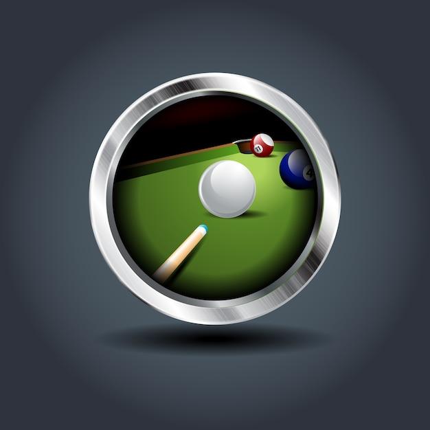 Billiard game Premium Vector