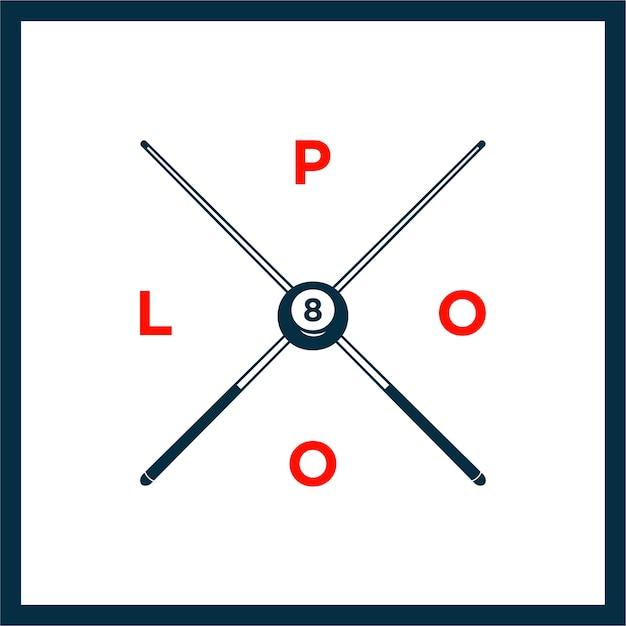 Billiard or snooker poolroom design Premium Vector