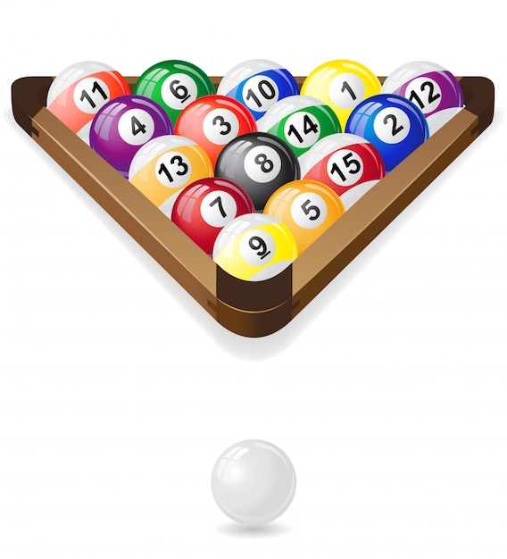 Billiards balls Premium Vector