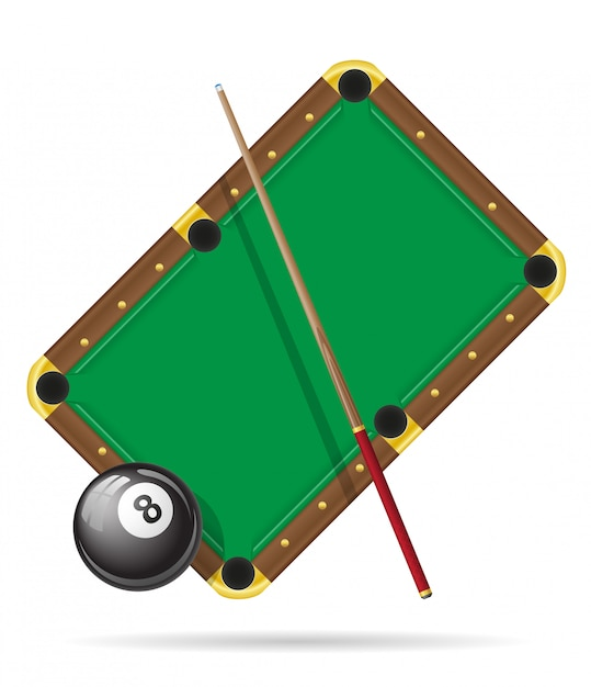 Billiards pool table vector illustration Premium Vector
