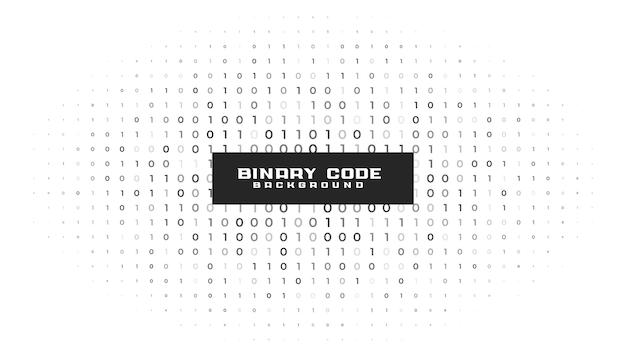 バイナリコード番号白い背景 無料ベクター