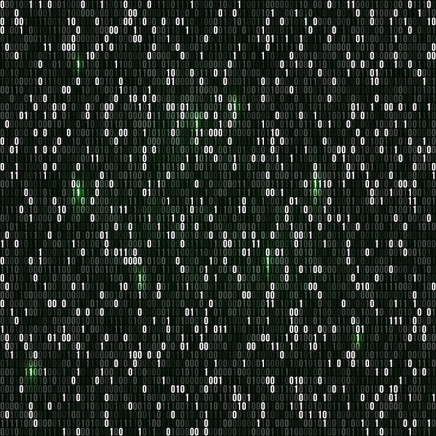 Binary code with numbers one and zero Premium Vector