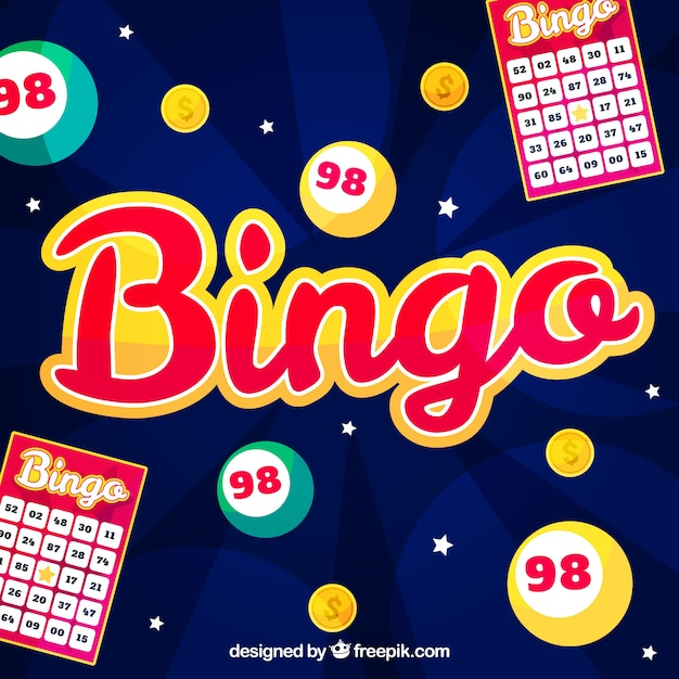 Bingo background design Free Vector