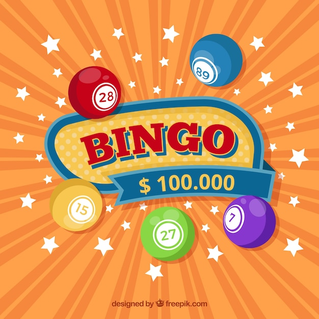 Bingo background with stars Free Vector