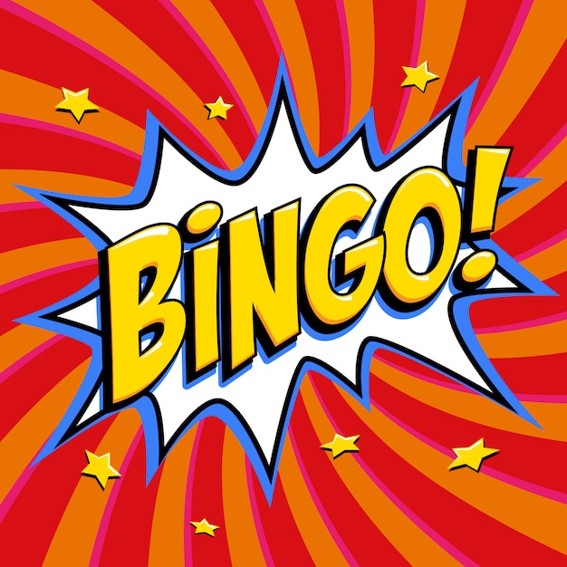 Bingo lottery poster Premium Vector