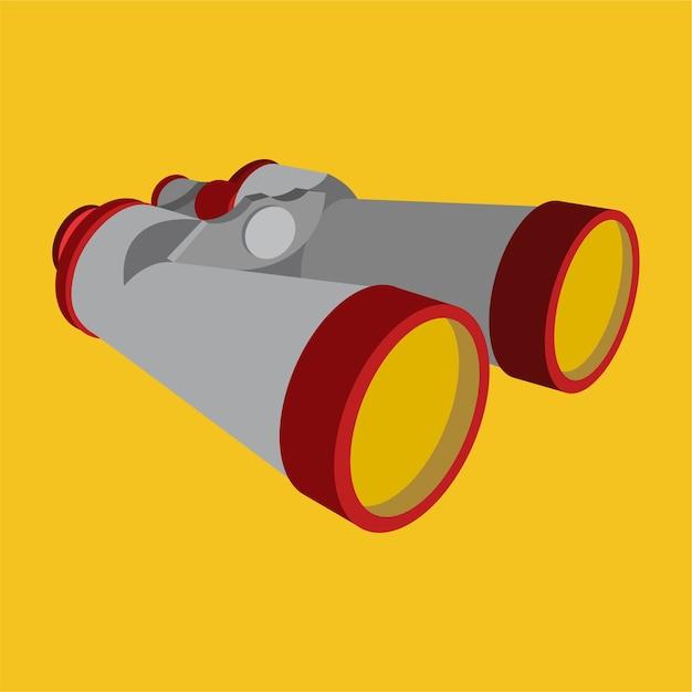 Binoculars vision Premium Vector
