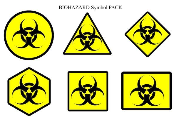 Biohazard Symbol Label Pack Vector Premium Download