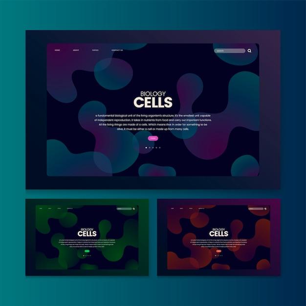 生物細胞情報ウェブサイトのグラフィック 無料ベクター