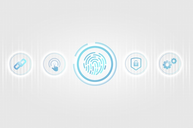Biometric security concept Free Vector