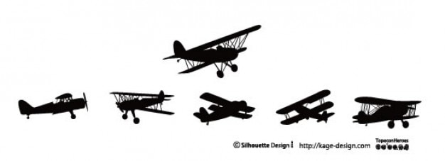Biplane Silhouette Vectors Photos And PSD Files