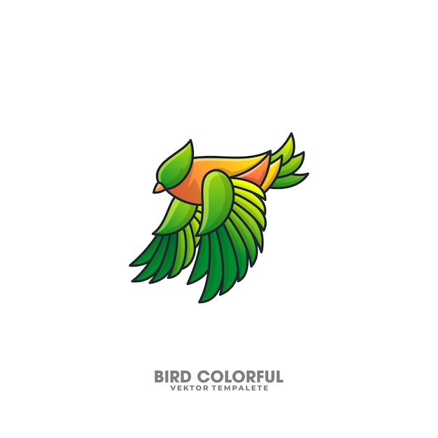 Bird colorful design illustration vector template Premium Vector