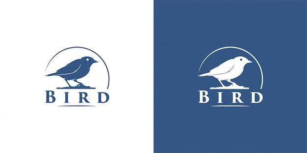 Птица дизайн эмблемы, марочные, печать, значок, логотип вектор шаблон Premium векторы