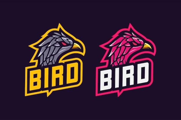 Логотип bird esport Premium векторы
