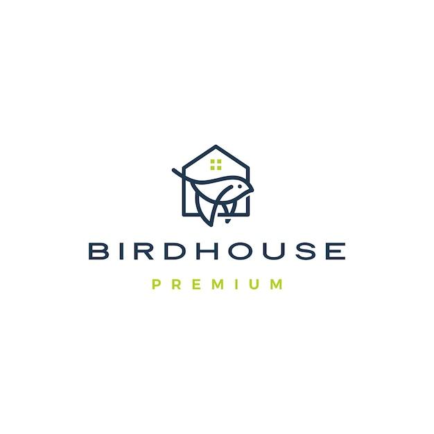 Bird house logo Premium Vector