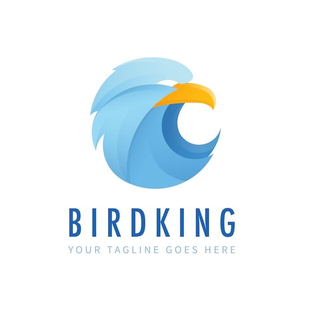 Bird king logo Premium Vector