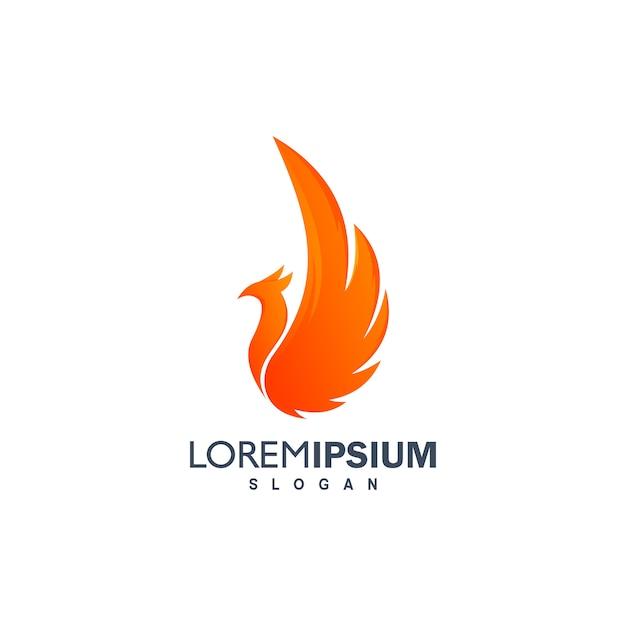 Bird logo design illustration Premium Vector