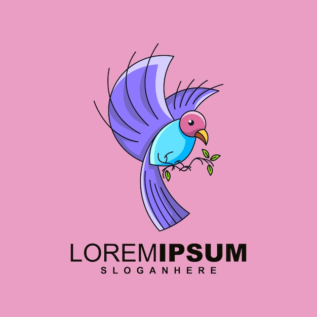 Bird logo design premium Premium Vector