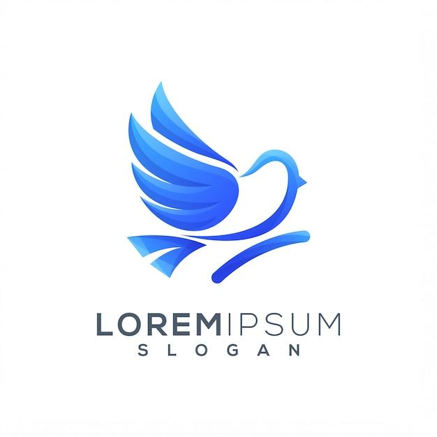 Bird logo template Premium Vector
