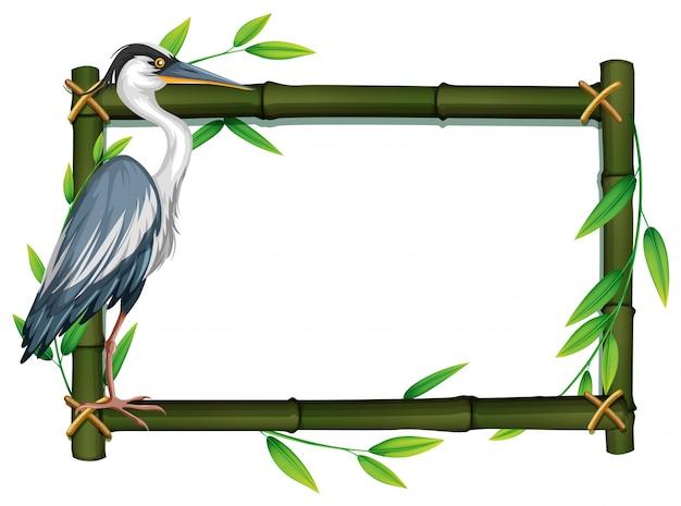 Bird in nature frame Premium Vector