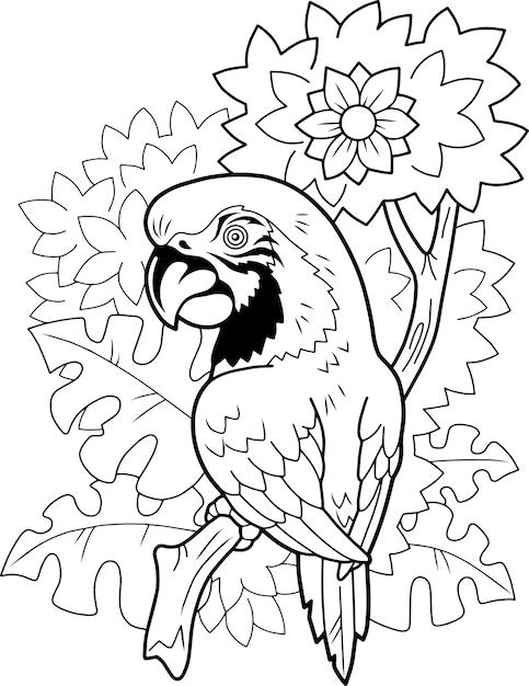 鳥のオウム Premiumベクター