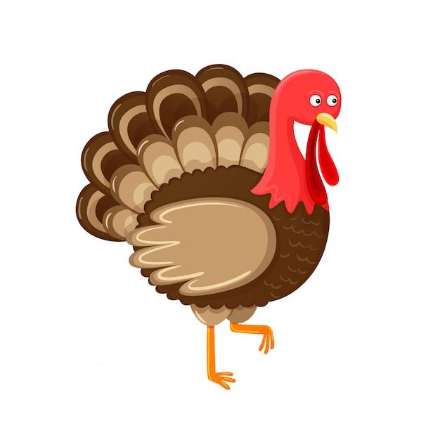 Bird symbol of thanksgiving day isolated vector Premium Vector
